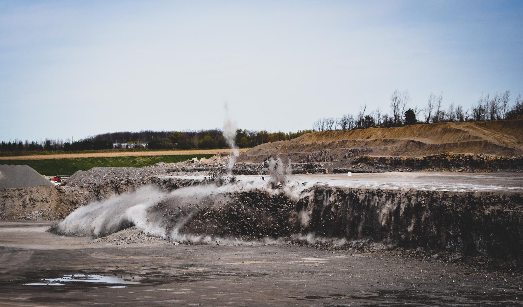 Austin Powder Company blast at a quarry.