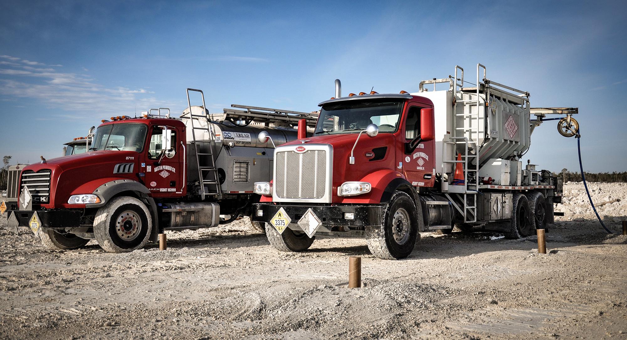 Austin Powder pump trucks